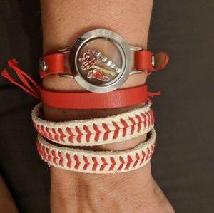 Origami Owl St Louis Cardinals wrap bracelet